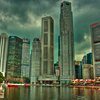 Downtown Singapore Skyline