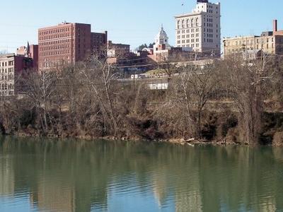 Downtown Fairmont And The Monongahela River