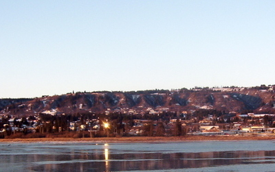 Downtown Homer Seen From Beluga Slough