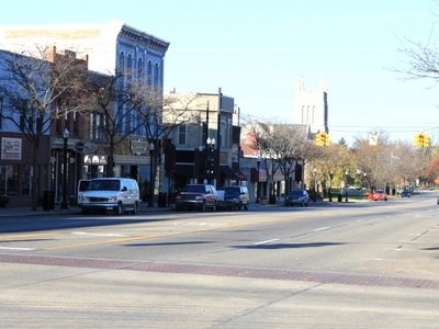 Downtown Howell Grand River Ave. Facing West At Michigan Ave.
