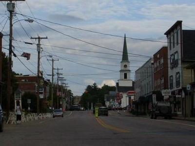 Downtown Morrisville Looking East Along Main Street