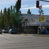 Downtown North Bend. Twedes Cafe From Twin Peaks Is On The Right