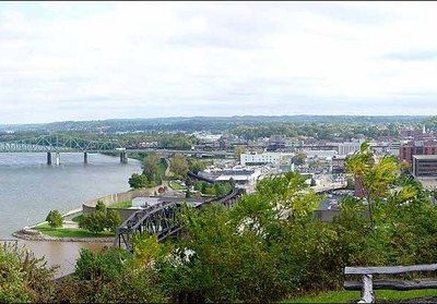 Downtown Parkersburg As Viewed From Fort Boreman Historical Park
