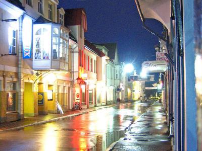 Downtown  Parnu At Night   P D Xdj
