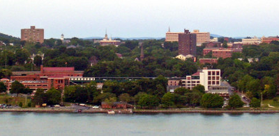 Downtown Poughkeepsie From Across The Hudson River