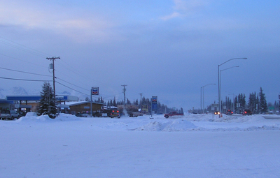 Downtown  Tok  Alaska