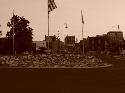 Downtown Washington At Dusk As Seen From Its Missouri River Dock