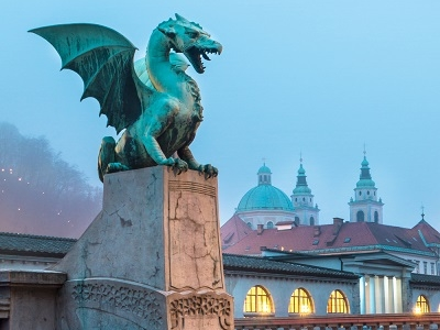 Dragon At Dragon Bridge - Ljubljana
