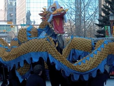 Dragon Dance In Calgarys Chinatown