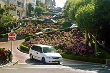Driving Down SF Lombard Street