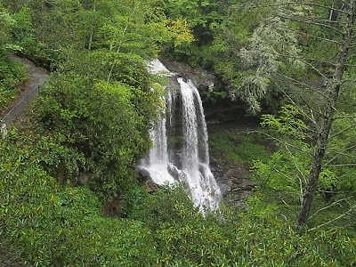 Dry Falls - Mountain Waters Scenic Byway Near Highlands - North Carolina