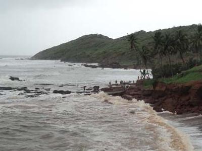 High Tide At Anjuna Beach