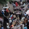 Charminar - Busy Street Vendors Near Bus Stand