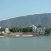 Pushkar Lake With Mountain Behind