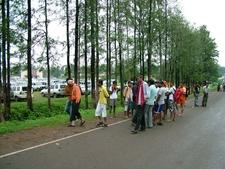A Small Tourist Gathering