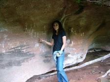 Ann Urmann With The Rock Paintings