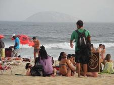 Copacabana Tourist Crowd