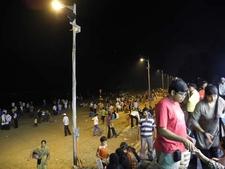 Juhu Beach - Night Crowd