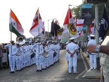 Indian Navy Band Outside Taj Tower