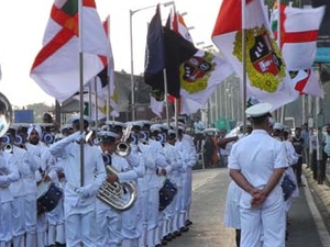 Indian Navy Band Outside Taj Tower