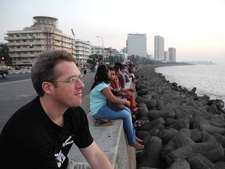 David Urmann Admiring Sea-View At Marine Drive