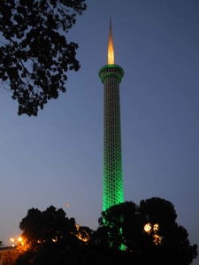 Monument Changing To Green