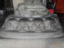 Rock (Skulls) Cut Circular Pedestal