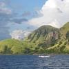 Boat Circling Rinca Island