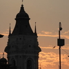 Tower Against Evening Sky