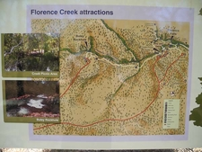 Florence Creek Attractions Info Plaque