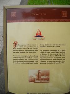 Cenotaph Info Plaque