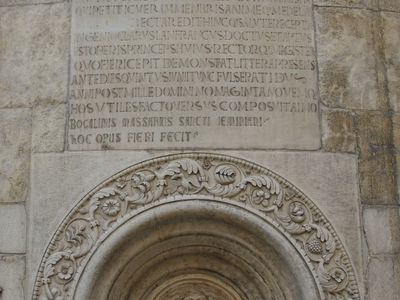 Inscription On The Apse