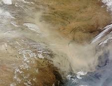 Dust Storm In Gobi Desert - Mongolia-China Border