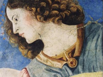 Da Forli  Angel With Lute Head