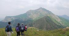 Dahei Mountain Viewed From Its South Ridge