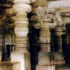 Decorated Pillars At Hoysaleshvara Temple In Halebidu