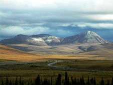 Dempster Highway Crossing The Richardson Mountains