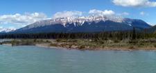 De Selt Range And Athabasca River