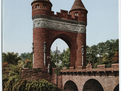Photochrom Of The Soldiers And Sailors Memorial Arch