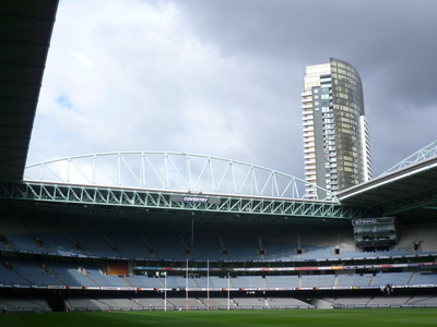 Docklands Stadium With An Open Roof