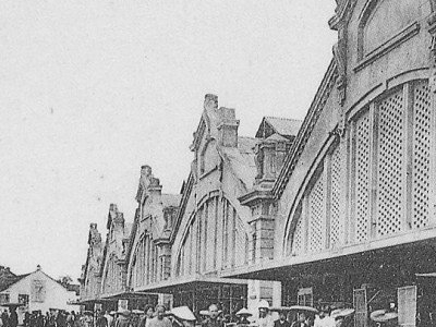 Dong Xuan Market In An Old French Postcard