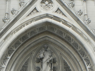Carved Tympanum Main Entrance