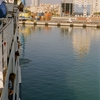 Durres Port Seen From A Ferry