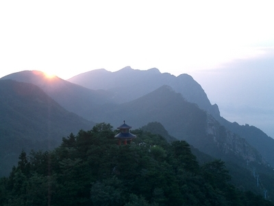 Sun Rise At Mount Lu