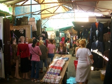 Clothing Stalls In Dordoy Bazaar