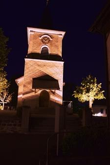 Church Of Ecublens By Night