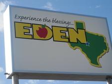 Eden Texas Welcome Sign