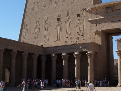 Inside The Temple Of Edfu