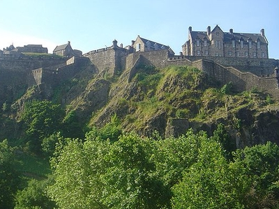 Edinburgh Castle On Hill