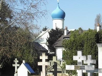 Russian Cemetery At Sainte-Genevieve-des-Bois